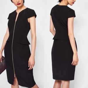 Ted baker fearnid architectural pencil zip dress